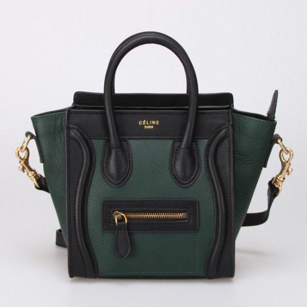 Sac Cline Luggage Nano Vert émeraude / noir