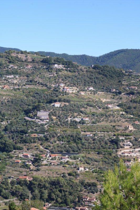 San Biagio della Cima (IM), Liguria, Italy:  una vista sulla Località San Sinforiano e sulle Località Maciurina e Fuberta di Vallebona