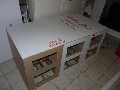 Liti re pour chats meubles en carton - Meuble litiere pour chat ...
