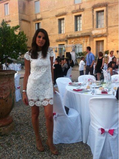Karine Ferri au Mariage de Nico Richaud et de sa femme Stephanie
