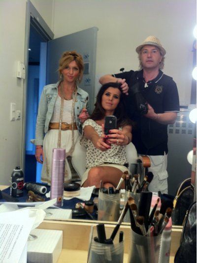 Karine Ferri en coiffure pour le tournage du Mag de l\u0027ete , Blog de  karry1325