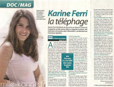 Karine Ferri   dans Tele Cable Sat