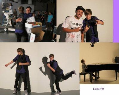 Justin sur le tournage de U Smile