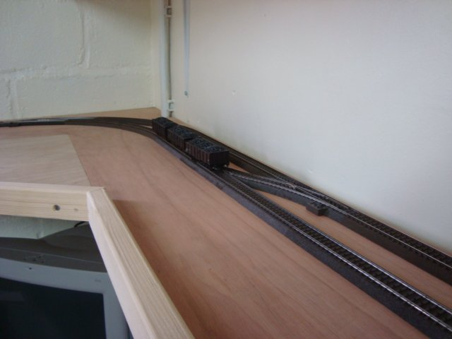 L'installation du 3 rails presque terminé