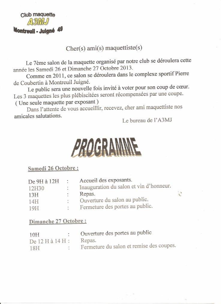 Inscription et programme