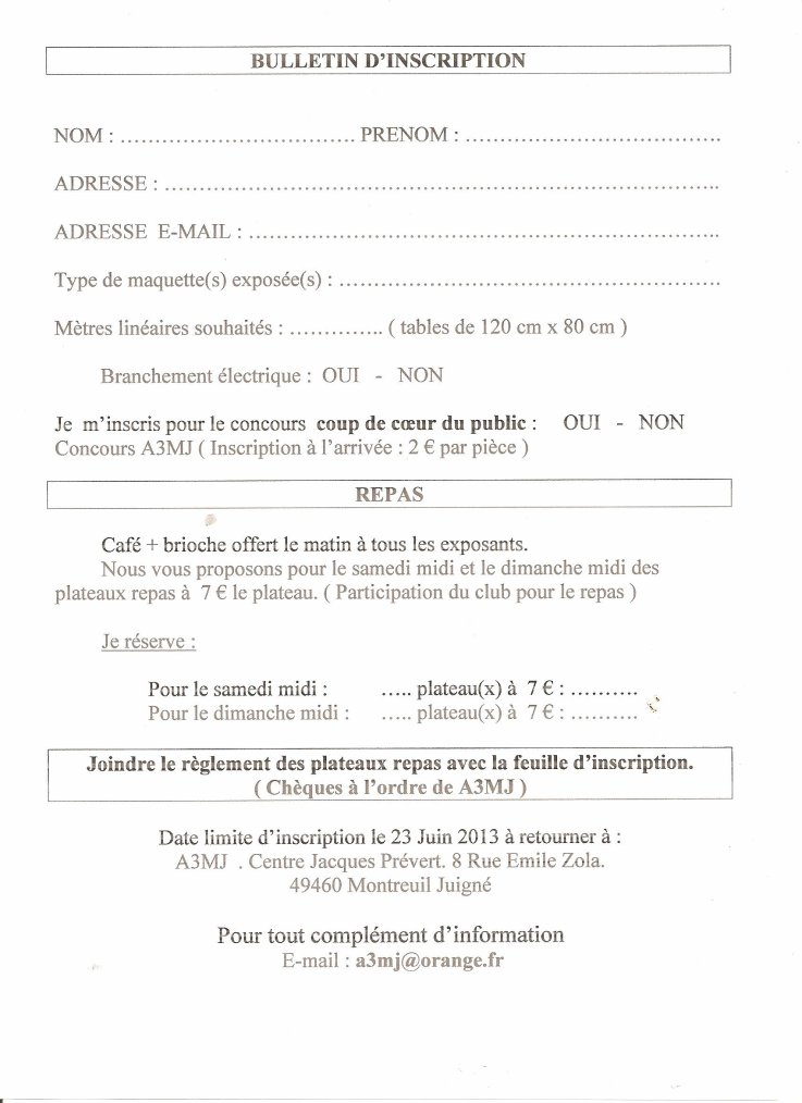 Inscription et programme