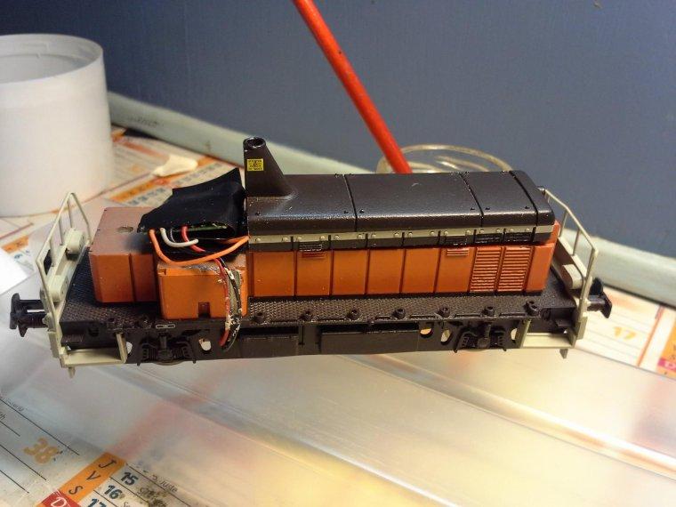 Digitalisation du locotracteur Roco Y 8000 par Pascal