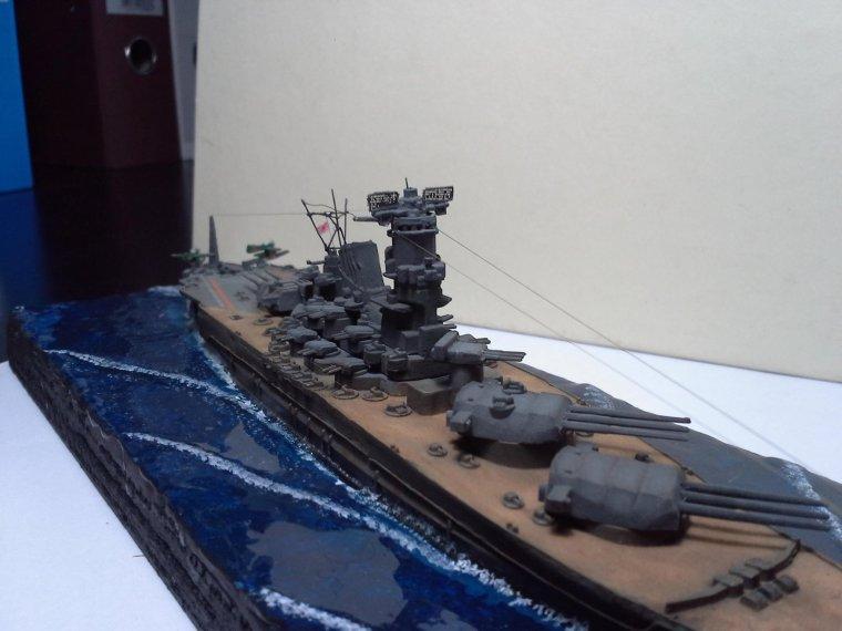 Le cuirassé Yamato au 1/1200 Revell de Timothée
