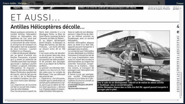 Nouveau ! > Antilles Hélicoptères