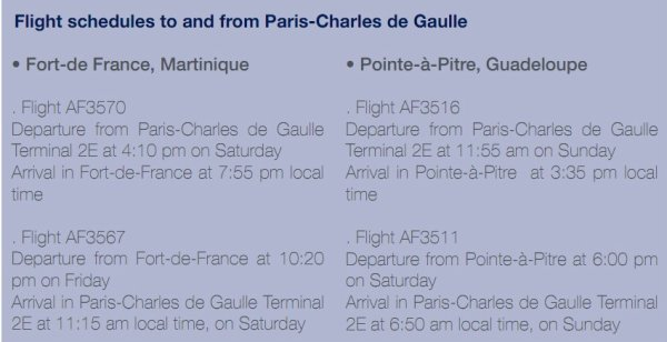News > Flight from CDG Schedules
