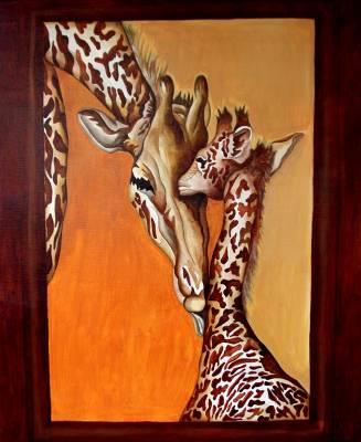 girafe et girafon sur toile grand format l 39 art ne reproduit pas le visible il rend. Black Bedroom Furniture Sets. Home Design Ideas