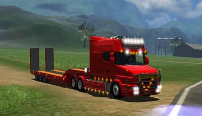Scania T164-580 Longline v1.1 + Deeploader with Dolly