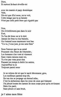 Un Poème Que Jai Copier Sur Ma Cousine émeline Undertéquer