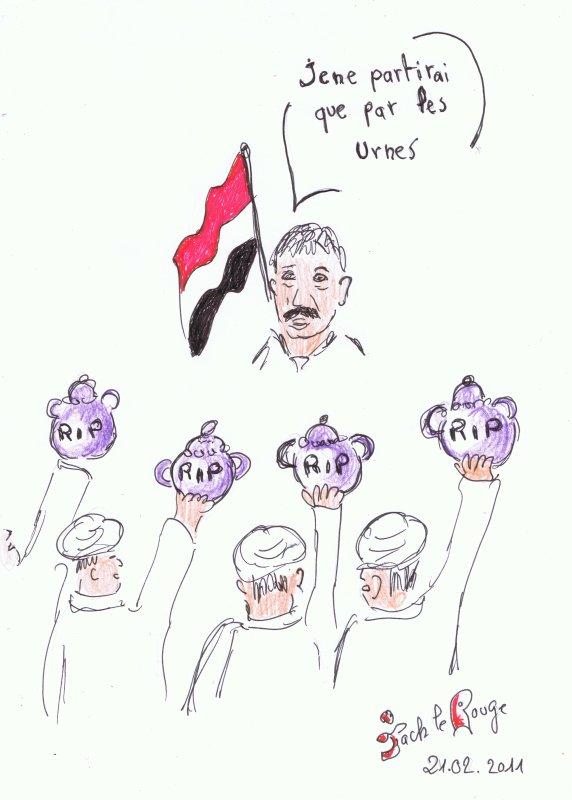 Yemen - C'est le Président Saleh qui cause!