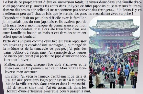 Article du journal de mon village (merci à mon oncle !)