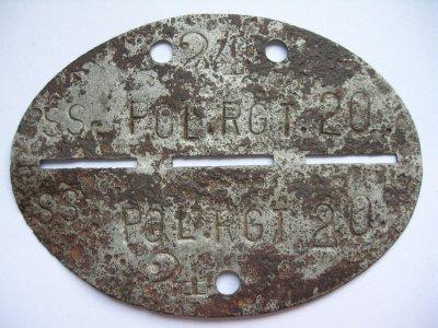 N°3 - Plaque de la SS (4ème Div.   ''Polizei '' - Panzergrenadier )