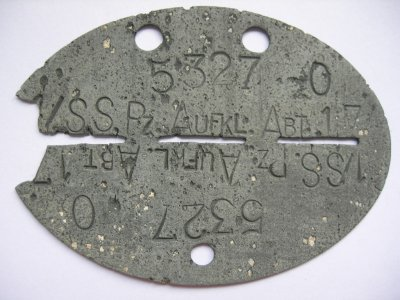 N°6 - Plaque de la SS (17ème Div.  ''Götz Von Berlichigen'' - Recon. )