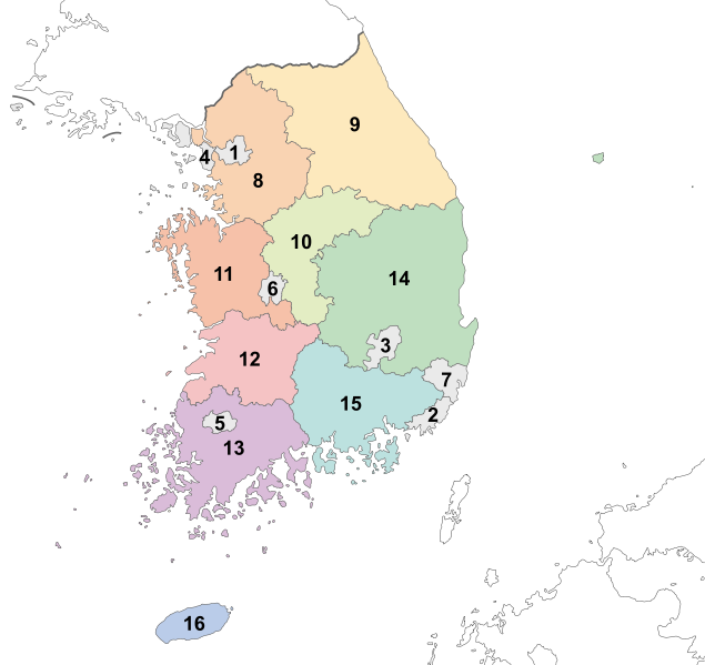 LA CORÉE : Les Provinces