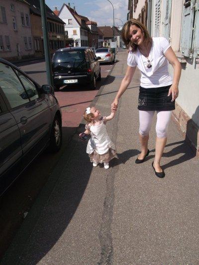 ma fille océane et moi le 4 juin je jour du baptême