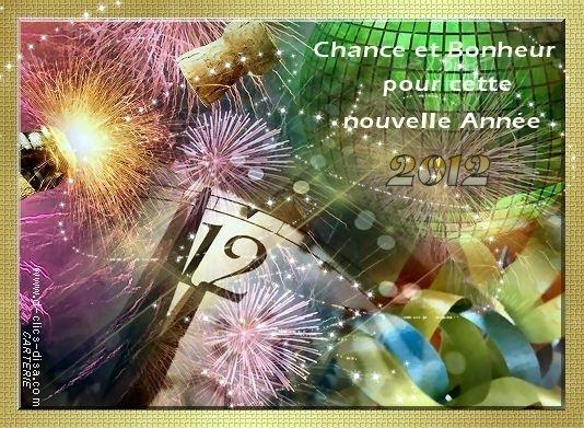 je vous souhaite à toutes et à tous une bonne fête de fin d'année et un bonne année 2012