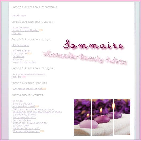 › Sommaire sur xConseils-Beauty-Adosx