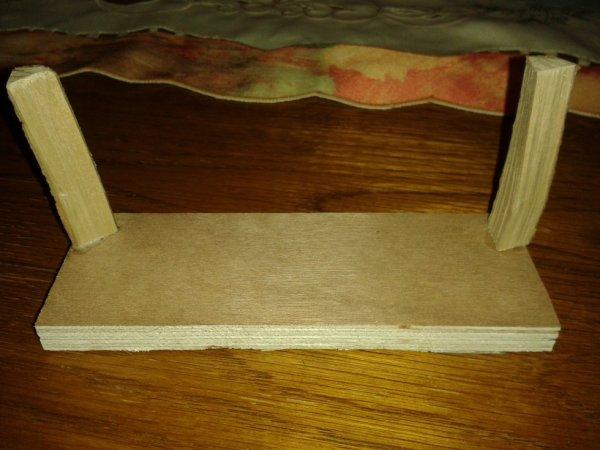 voici le socle pour empiler les bûches