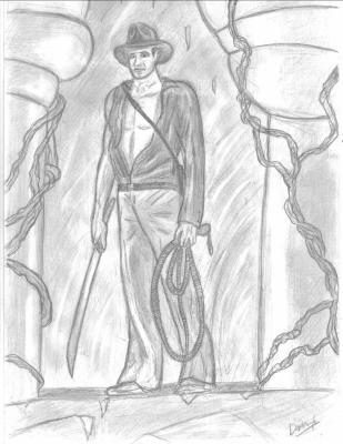Indiana jones fait par darkknife le 08 06 2008 dessins - Coloriage indiana jones ...