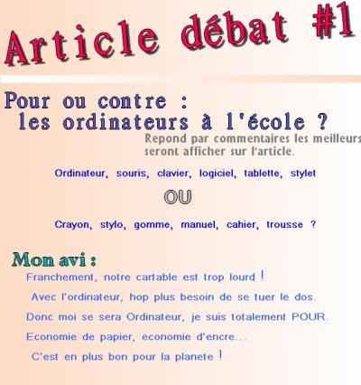 Article Débat #1