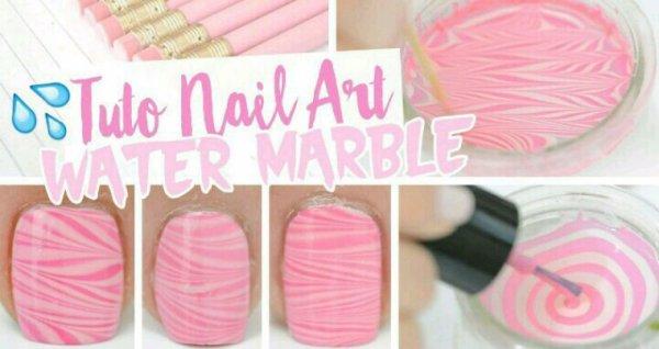 DIY : nail art water marble