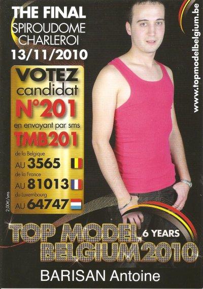 Finaliste du Top Model Belgium 2010