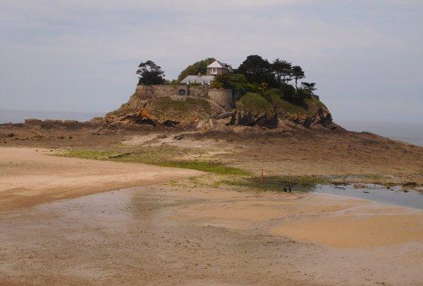 une photo de mon dernier séjour en Bretagne à coté de Cancale c'est l'Ile Du Guesclin là où Léo Ferré a composé beaucoup de ses chansons ...deux molossent veillent sur les murs et aboient lorsqu'à marée basse les gens s'approchent trop près ...bonne fin de semaine à toutes !!