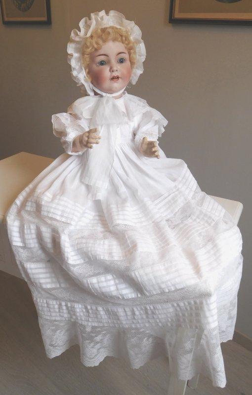 mon achat à la vente de Rouen un Franz Schmidt 1295 60 cm  idéal pour mes tenues anciennes ...présenté après un petit nettoyage et une toilette en rapport avec mes goûts !!