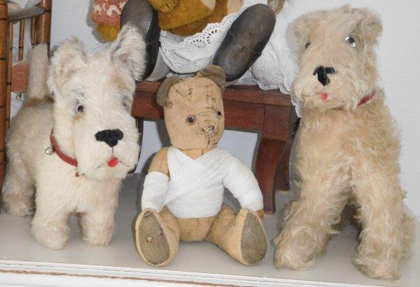 un petit sauvetage pour l'ours d'une amie qui a trouvé du réconfort entre ses deux nouveaux amis ...bon jeudi bisous