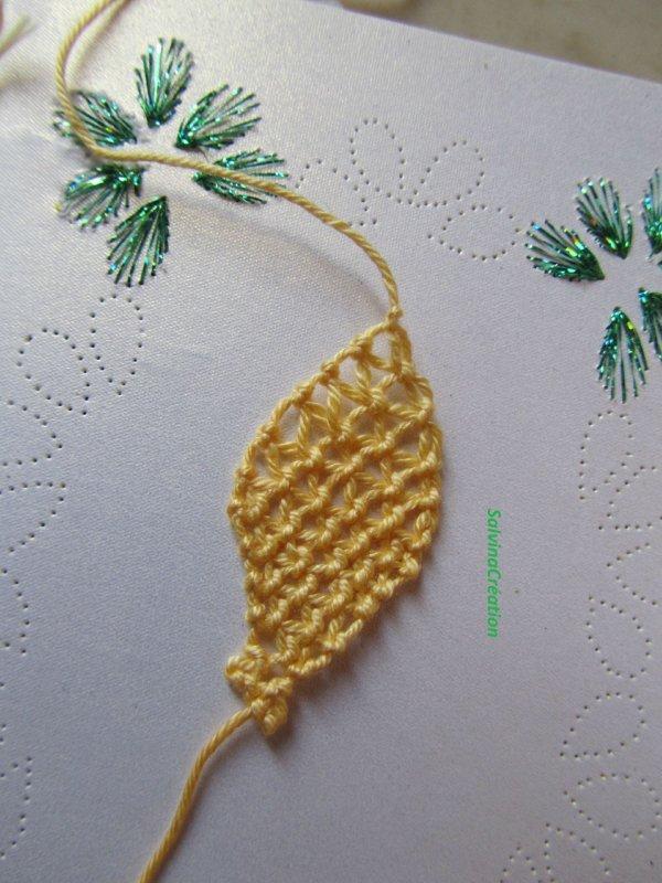 fleure en dentelle