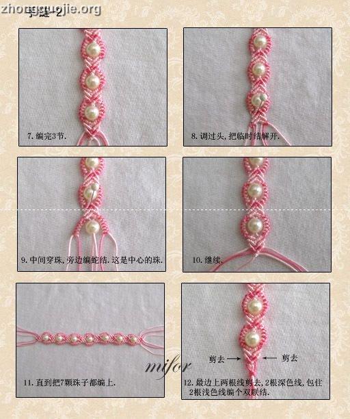 bracelet au macramé