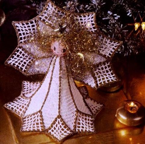 Ange de Noël au crohet