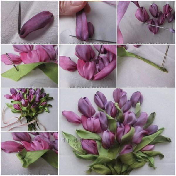 Des  Fleurs......tout au ruban