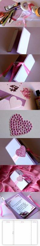 Porte bougie + coeur en paillette