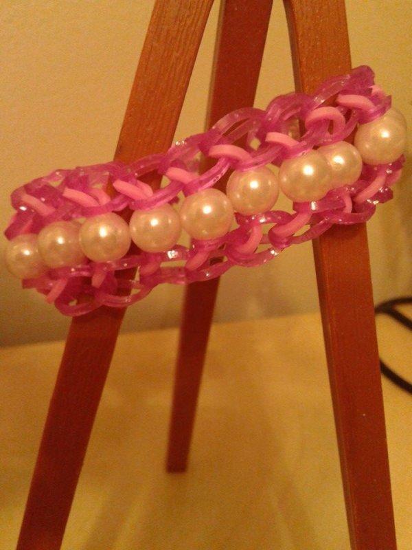bracelet elastique perle