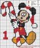 Mickey(noel ) au point de croix