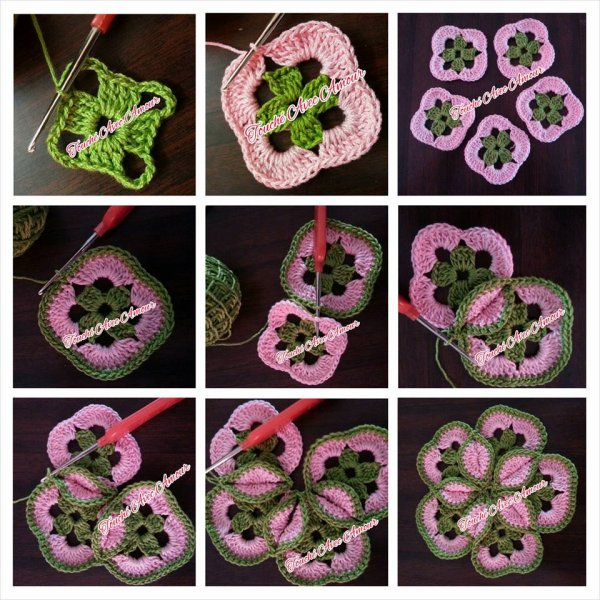 Crochet granny fleur