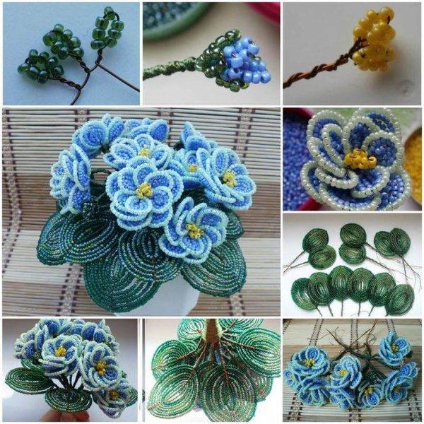 tuto bracelet et fleurs en perles