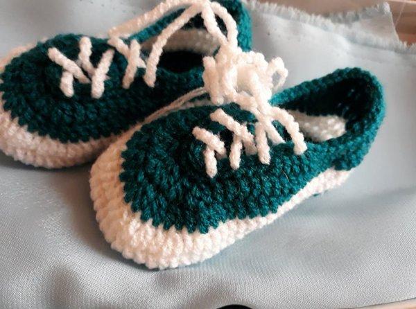 Tennis bébé  au crochet