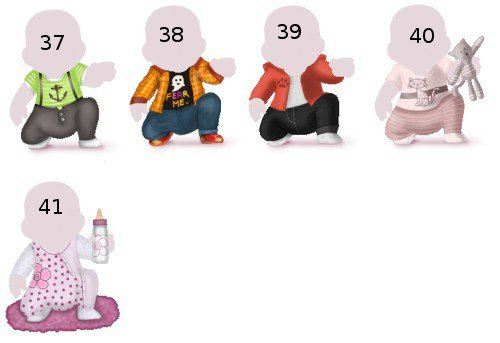 Vêtements de Boutiques Privées 6-12 mois