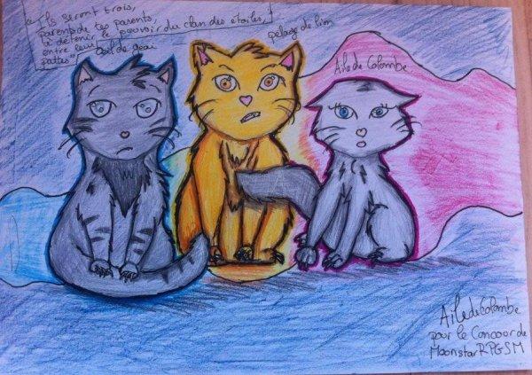 Aile de Colombe, ¼il de Geai et Pelage de Lion pour le concours de MoonstarRPGSM