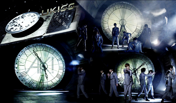 U-kiss-Tick tack ~  To lie I shall be here (tick tack, tick tack) To lie I shall be singing for you through the night (to lie) I shall be turning on the broken light  ♪