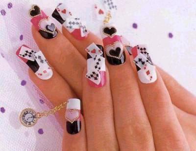 Nail art, déco sur les ongles.
