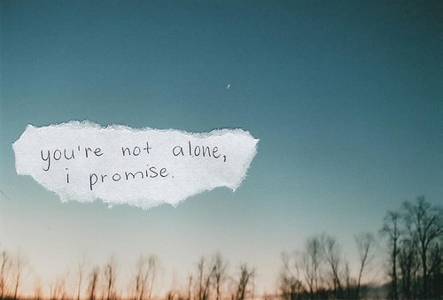 And I promise it's not your fault. I promise it was never your fault.