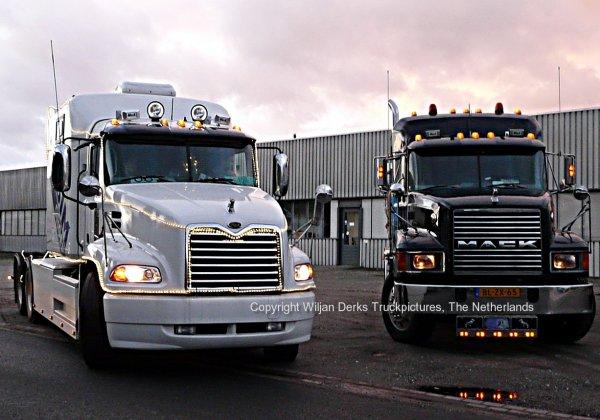 Mack Trucks at Christmas Run 2014 Panningen, The Netherlands