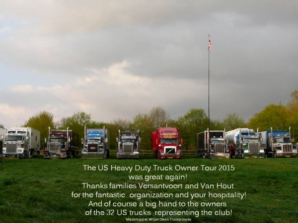 US Heavy Duty Truck Owner Club The Netherlands on tour 2015